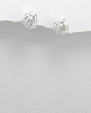 925 Sterling Silver Everyday Knot Stud Earrings